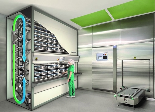 Vertical Storage Sterile Processing Department