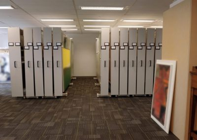 compact-mobile-art-racks-protect-fine-art-at-ontario-bank