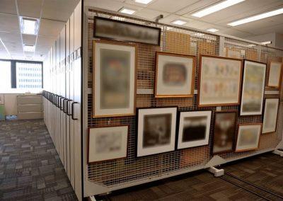 fine-art-storage-on-compact-mobile-art-racks-at-ontario-bank