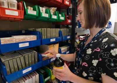 modular-bin-storage-on-framewrx-modular-bin-shelving-system-at-peterborough-regional-healthcare-centre