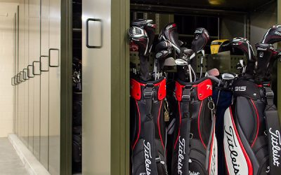 High-End Golf Bag Storage